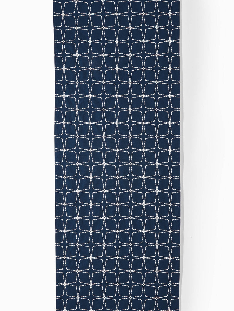 Navy Floral Motif Table Runner
