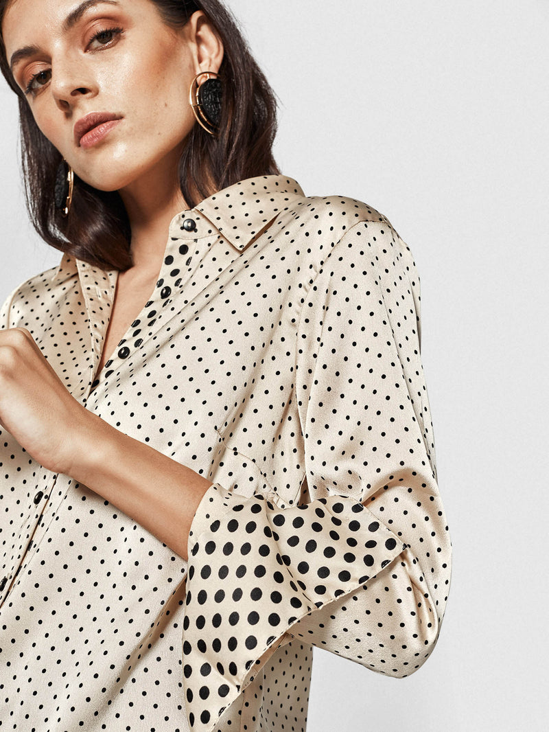 Nude Dotted Shirt
