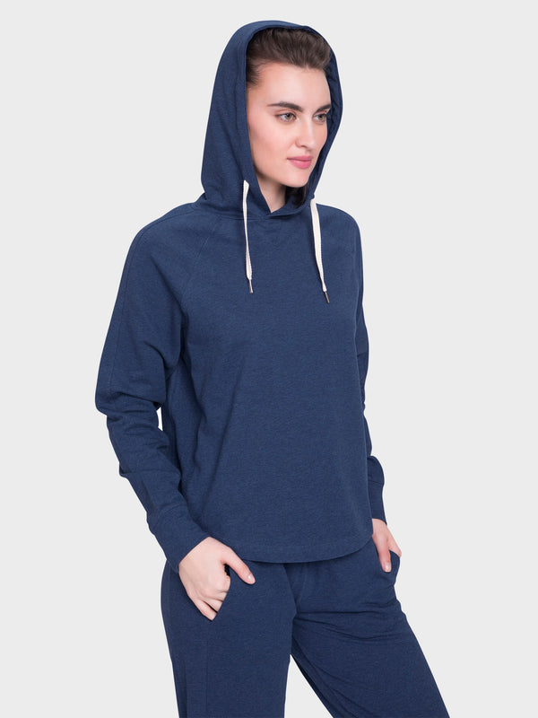 Parama Relaxed Hoodie Blue Heather By Satva