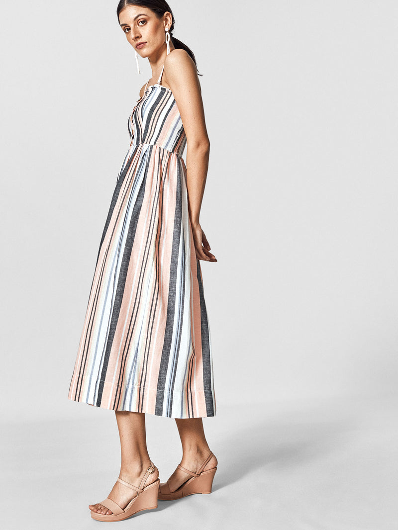 Pastel Pleated Tube Dress