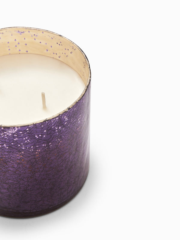 Plum Mercury Glass Candle