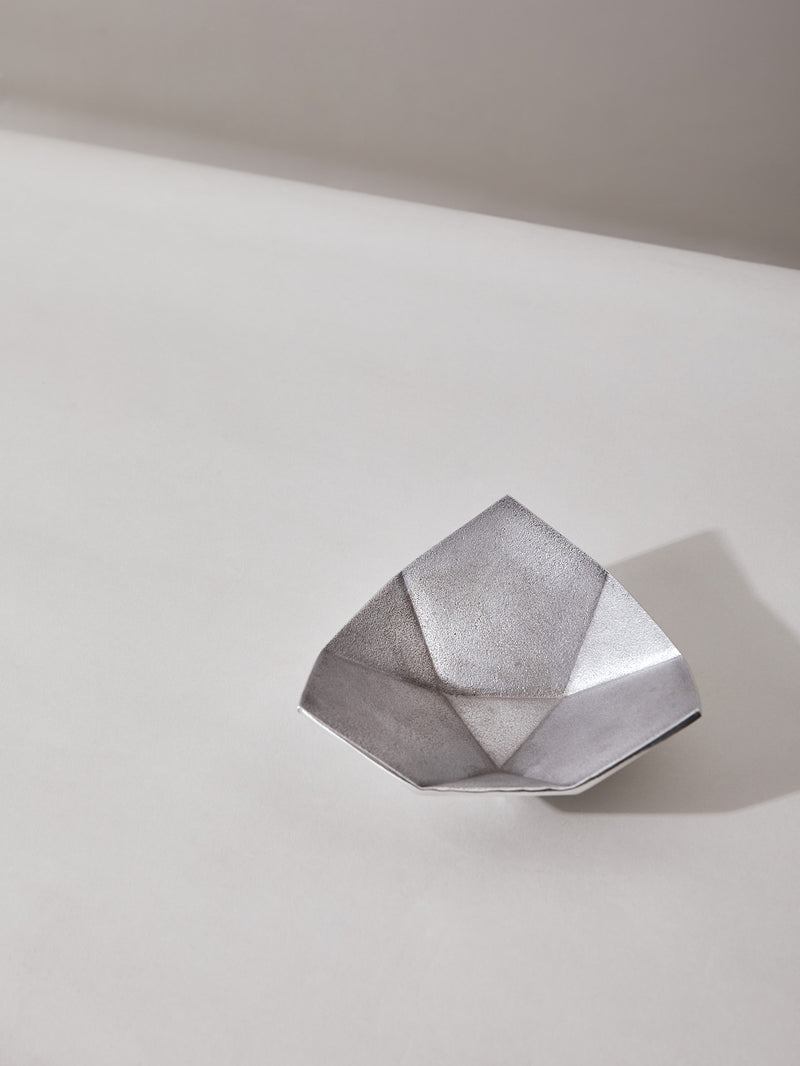 Silver Origami Bowl Medium by Anantaya