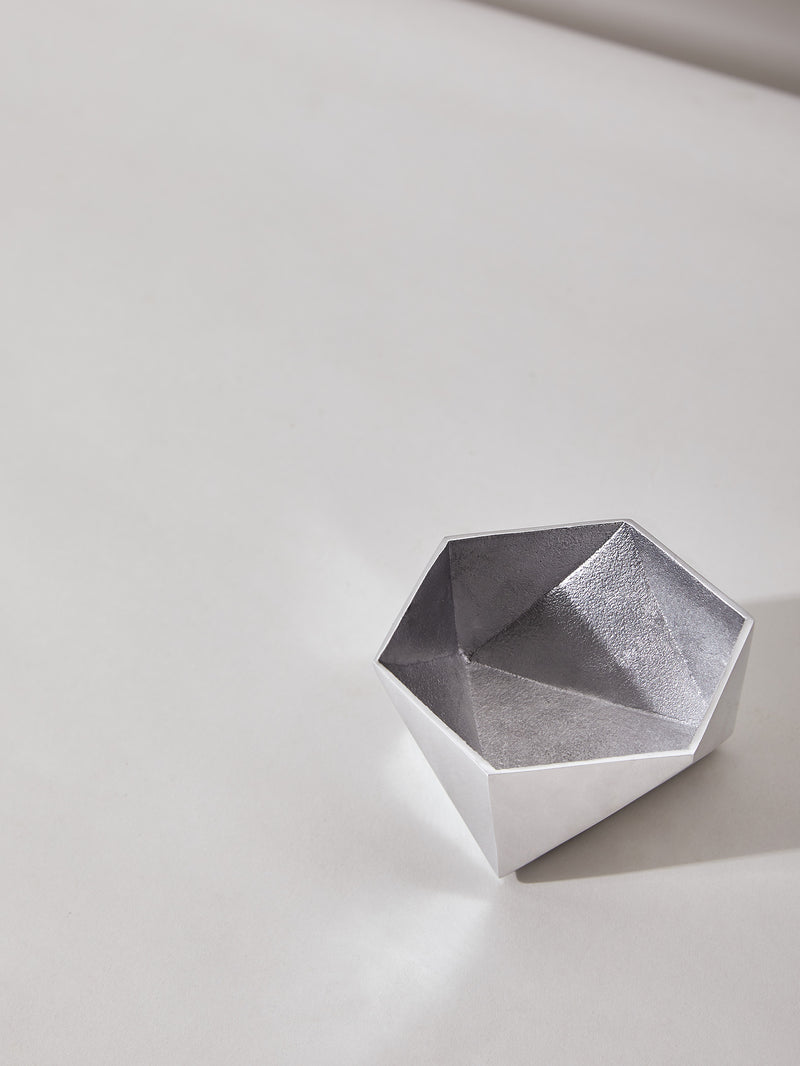 Silver Origami Bowl Small by Anantaya