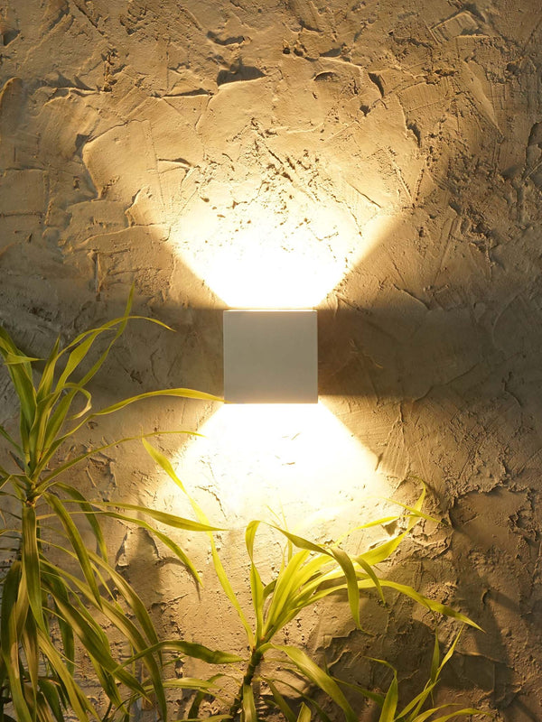 White Square Wall Light