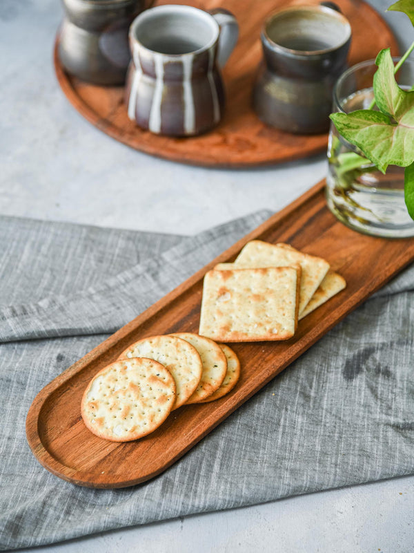 Wooden Oblong Platter