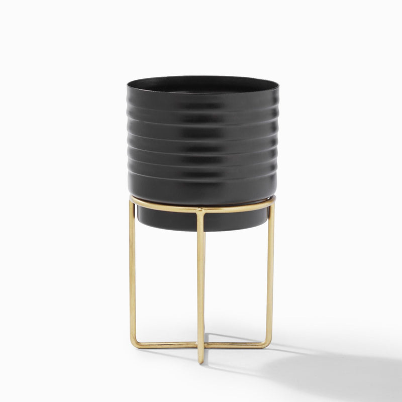 Black & Gold Minimal Planter
