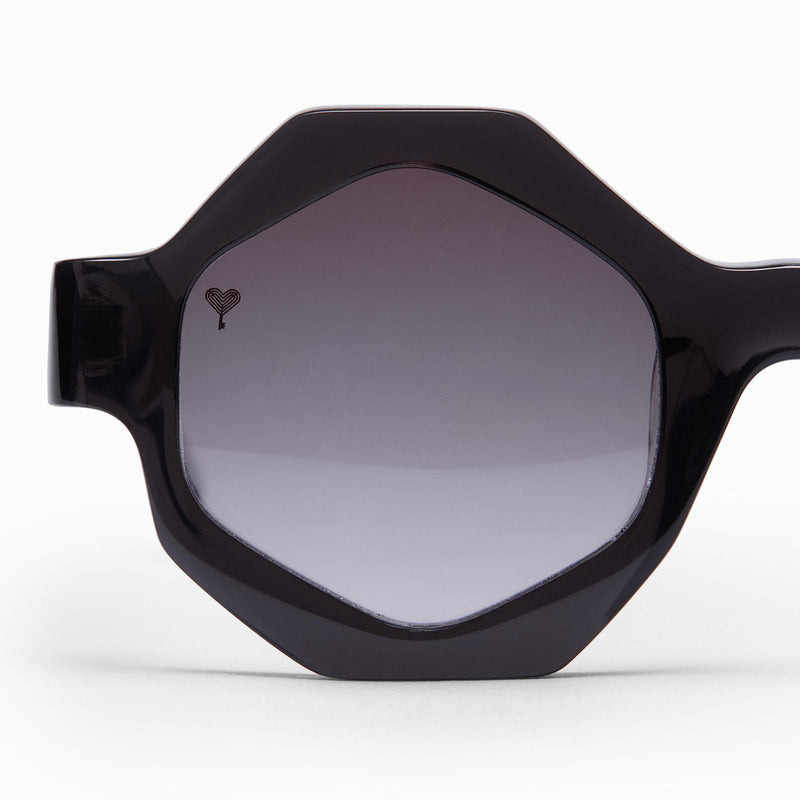 Black Hexagon Sunglasses