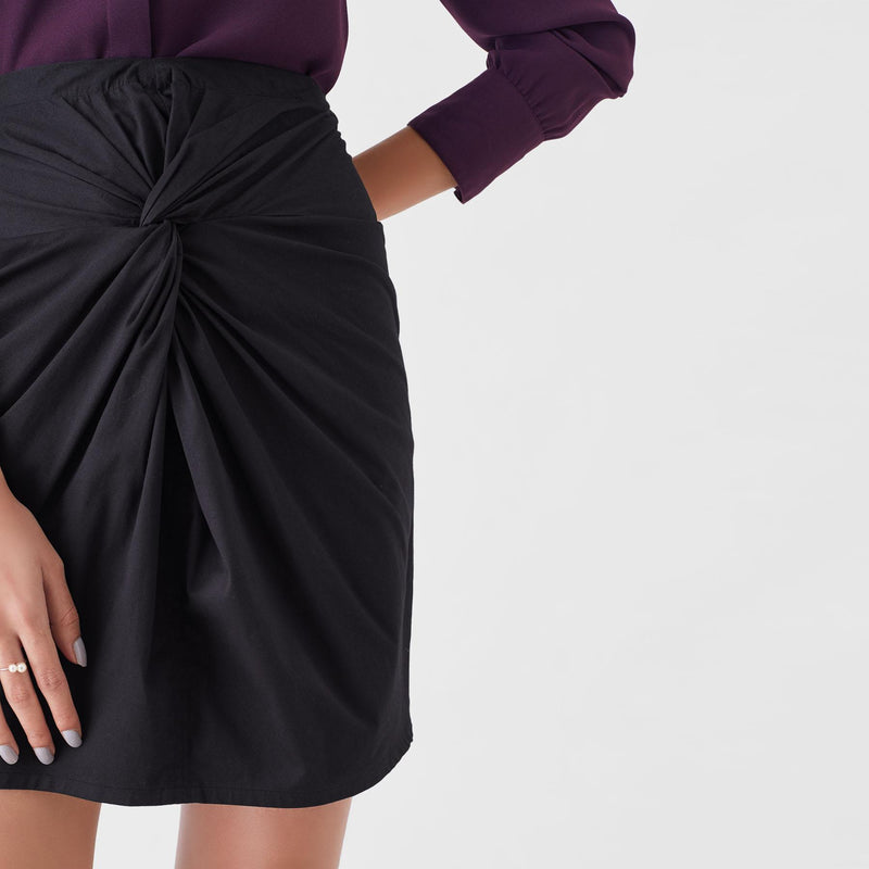 Black Knotted Skirt