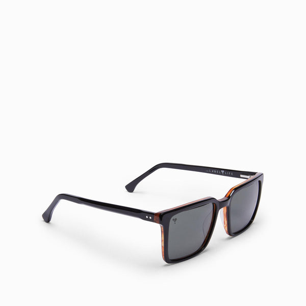Black & Tan Square Sunglasses