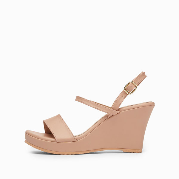 Blush Buckle Wedges