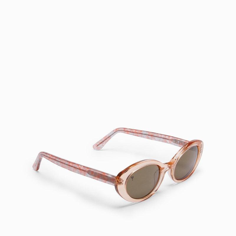 Blush Oval Sunglasses