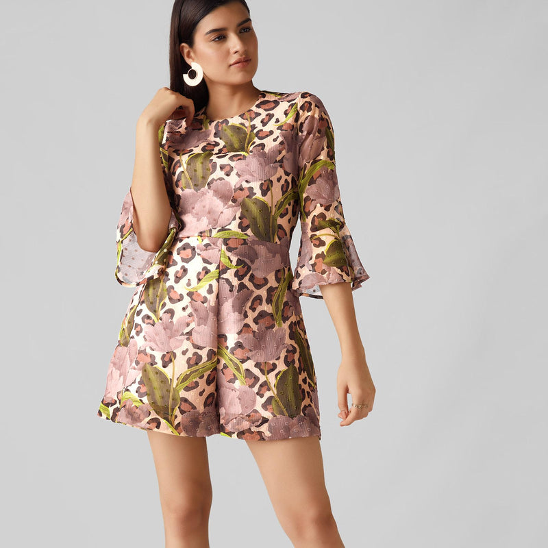 Blush Spring Back Cut Out Playsuit