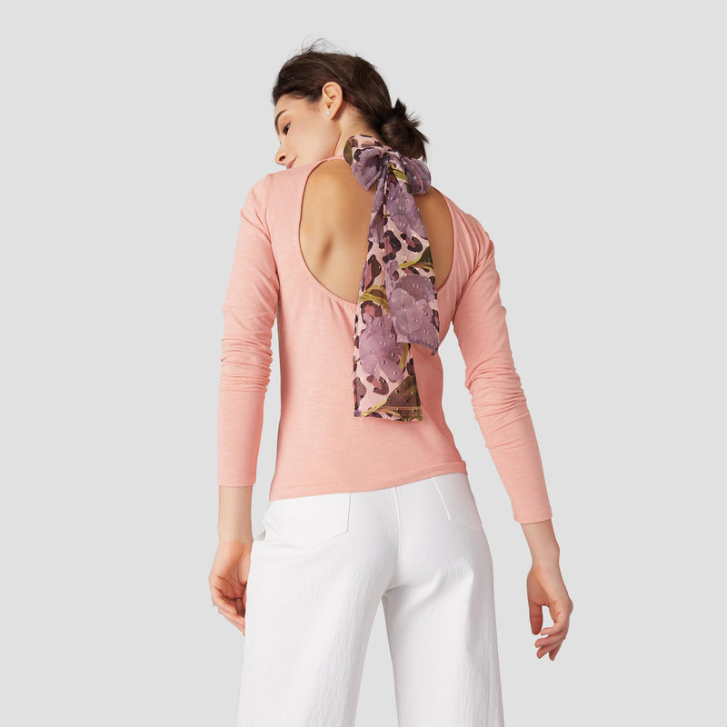 Blush Spring Back Tie Top