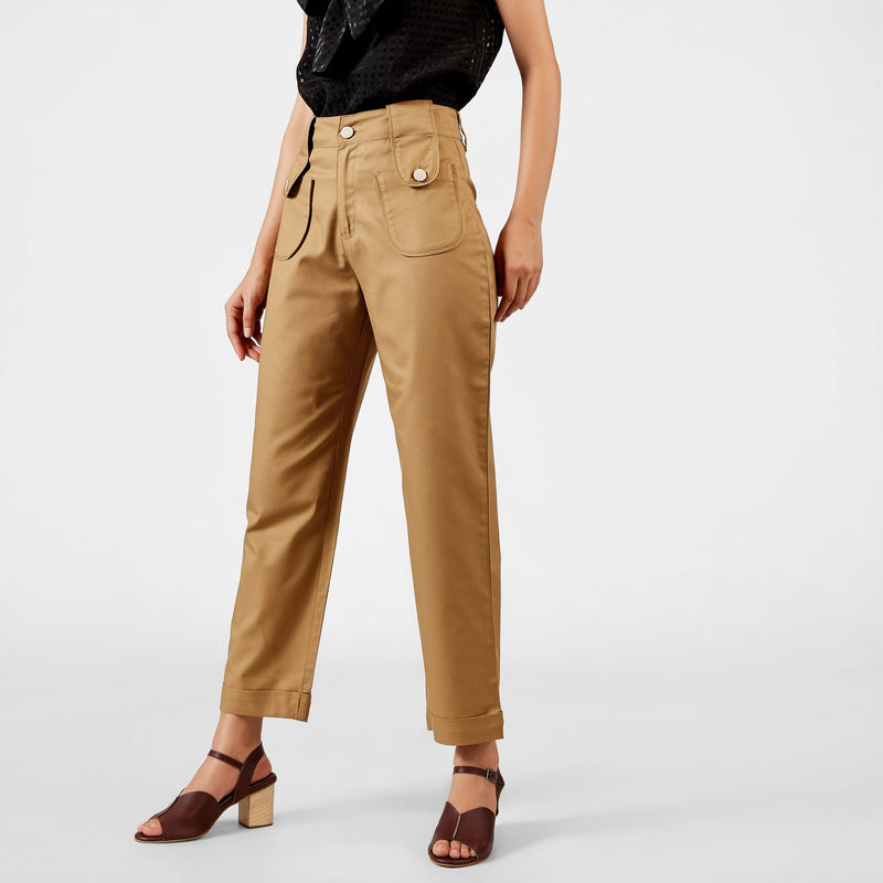 Camel Relaxed Pants