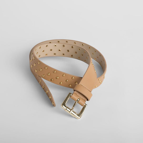 Camel Studded Belt
