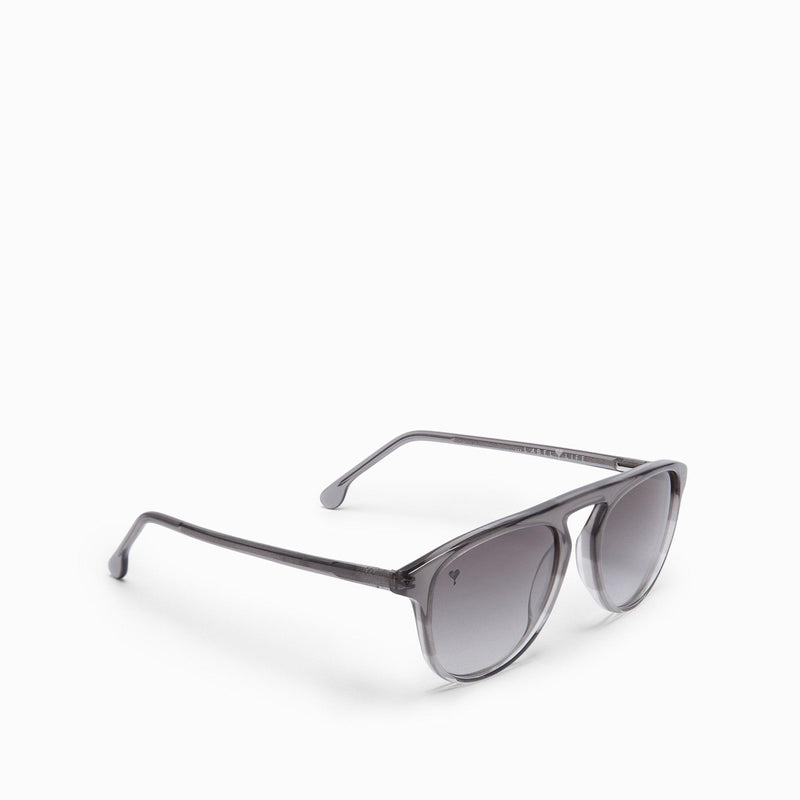 Charcoal Round Bridge Sunglasses