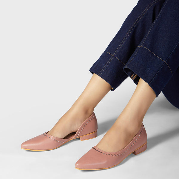 Dusty Rose D'Orsay Flats