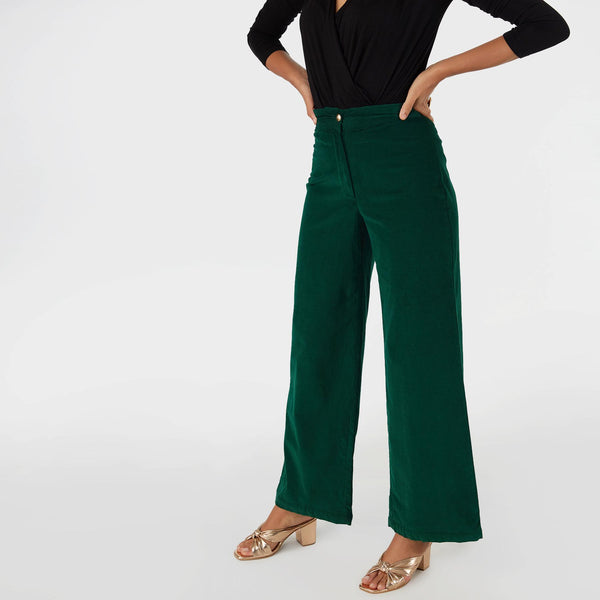 Emerald Corduroy Pants