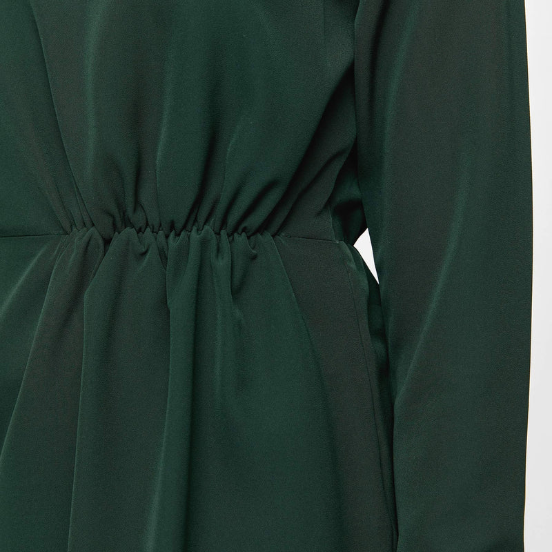 Emerald Cinched Dress