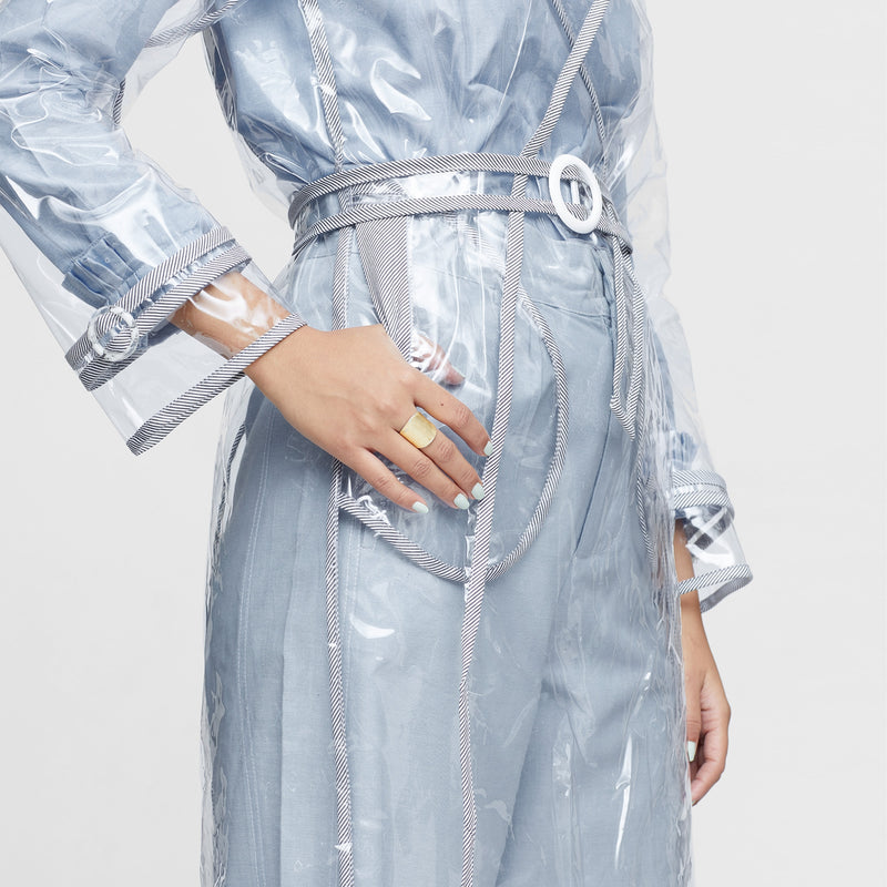 Clear Rain Trench Jacket