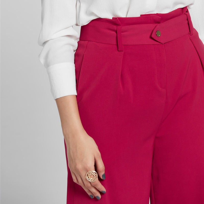 Cranberry High Waist Pants