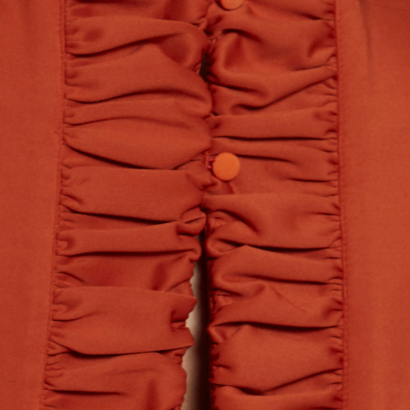 Tangerine Back Ruched Top