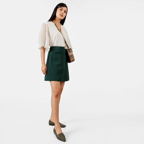 Emerald Yoke Skirt