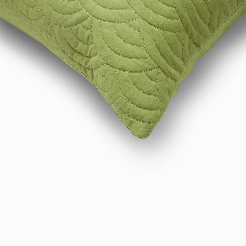 Fern Scallop Quilted Shams