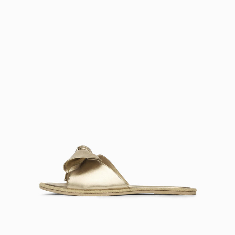 Gold Bow Jute Sliders