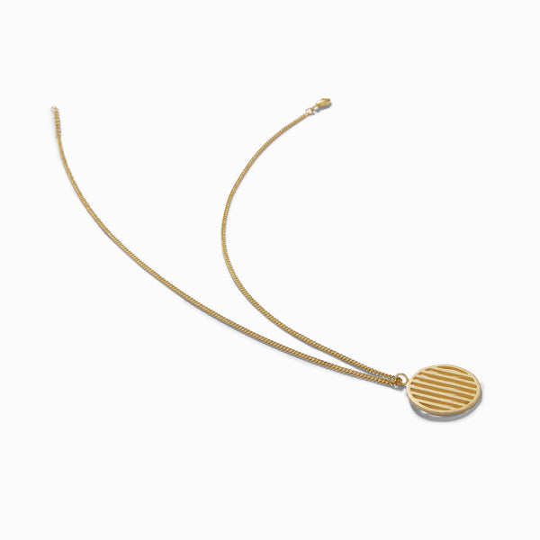 Gold Matte Bar Circle Necklace