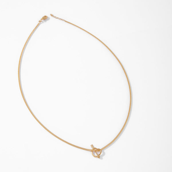 Gold Matte Cupid Necklace