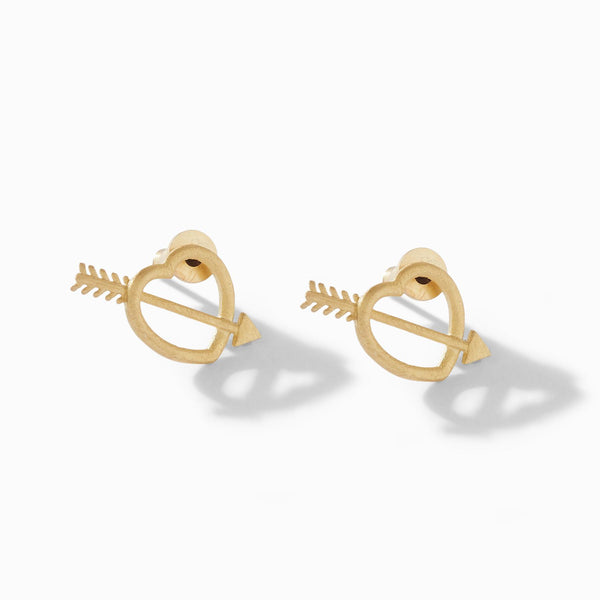 Gold Matte Cupid Studs