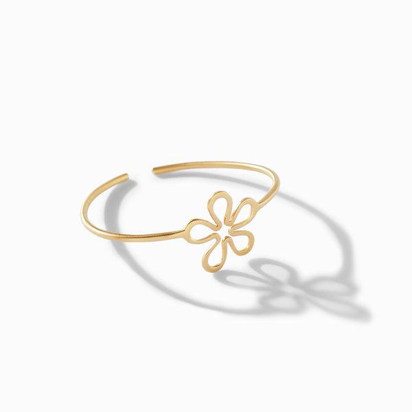 Gold Matte Flower Bangle