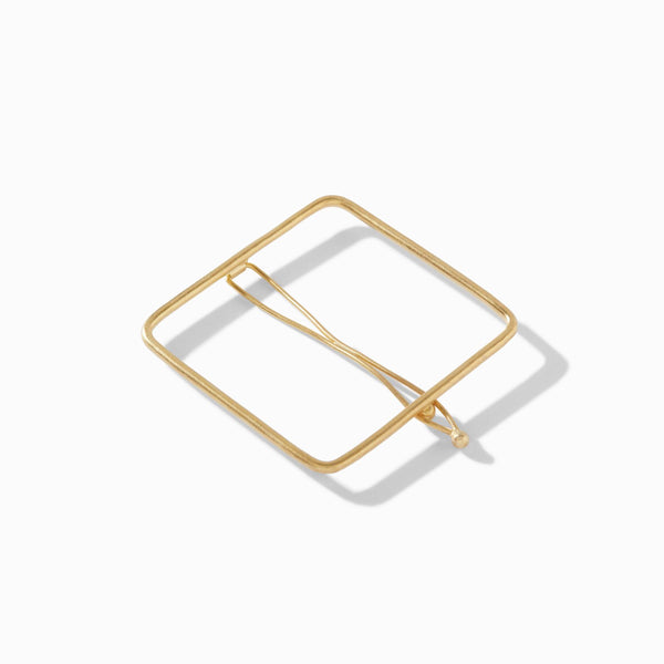Gold Matte Square Hairpin