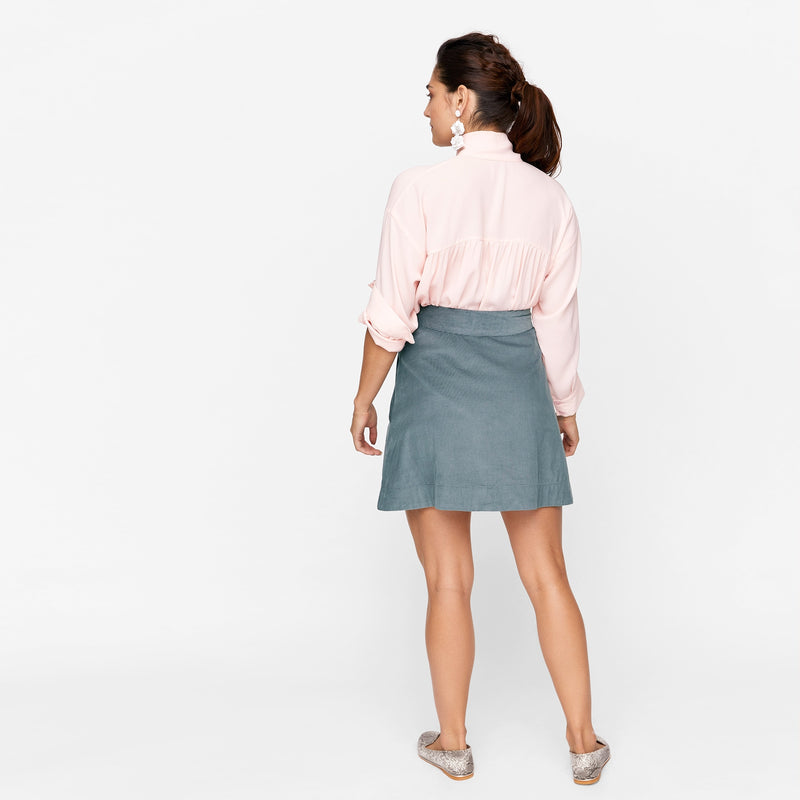 Grey Corduroy Skirt