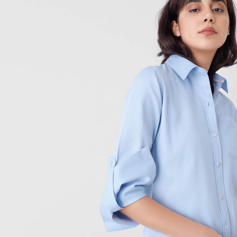 Ice Blue Button Down Shirt