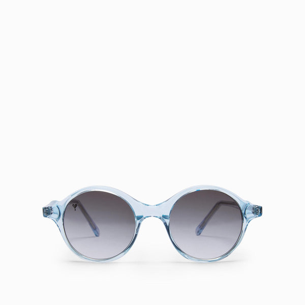 Ice Blue Round Sunglasses