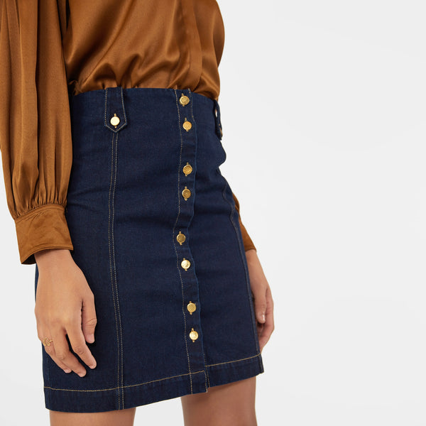 Midnight Denim Skirt