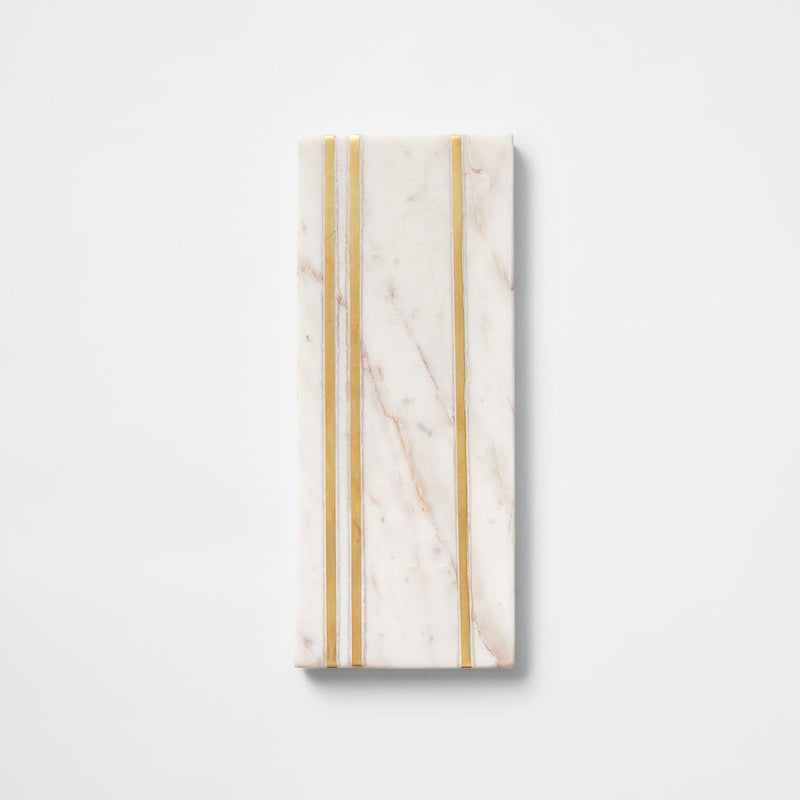 Ivory Marble Art Deco Rectangle Board