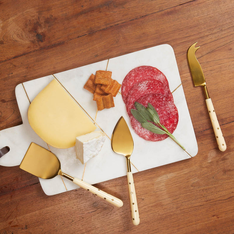 Ivory Polka Cheese Knives Set