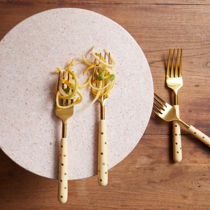 Ivory Studded Dinner Forks Set