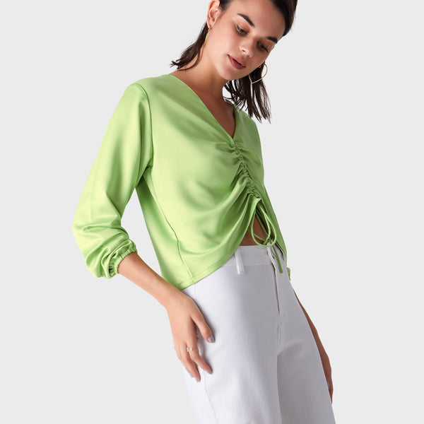 Leaf Ruched Top