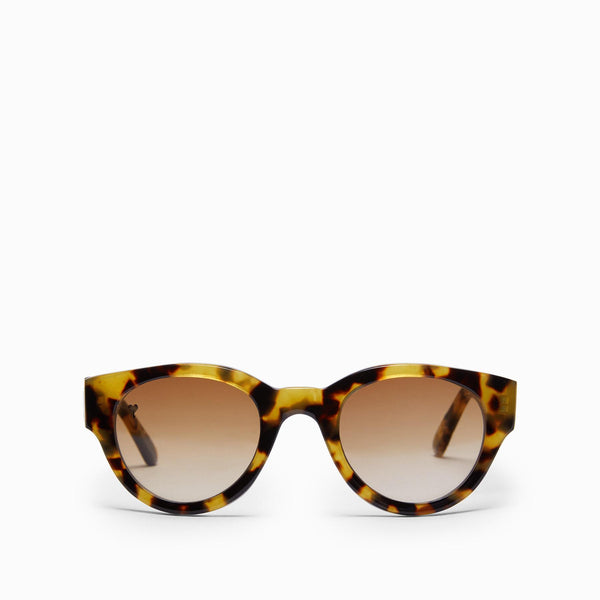 Light Tortoise Shell Oval Sunglasses