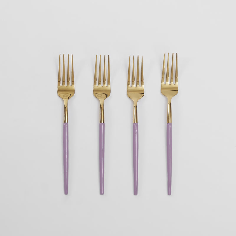 Lilac Enamel Dinner Forks Set