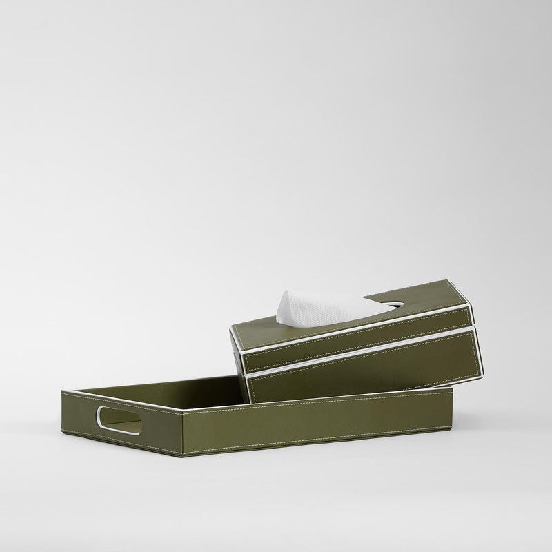 Olive Leather Tray
