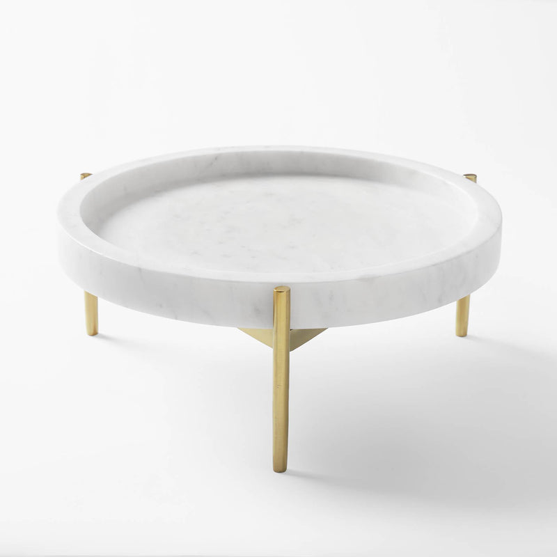Marble & Gold Geo Cake Stand Small