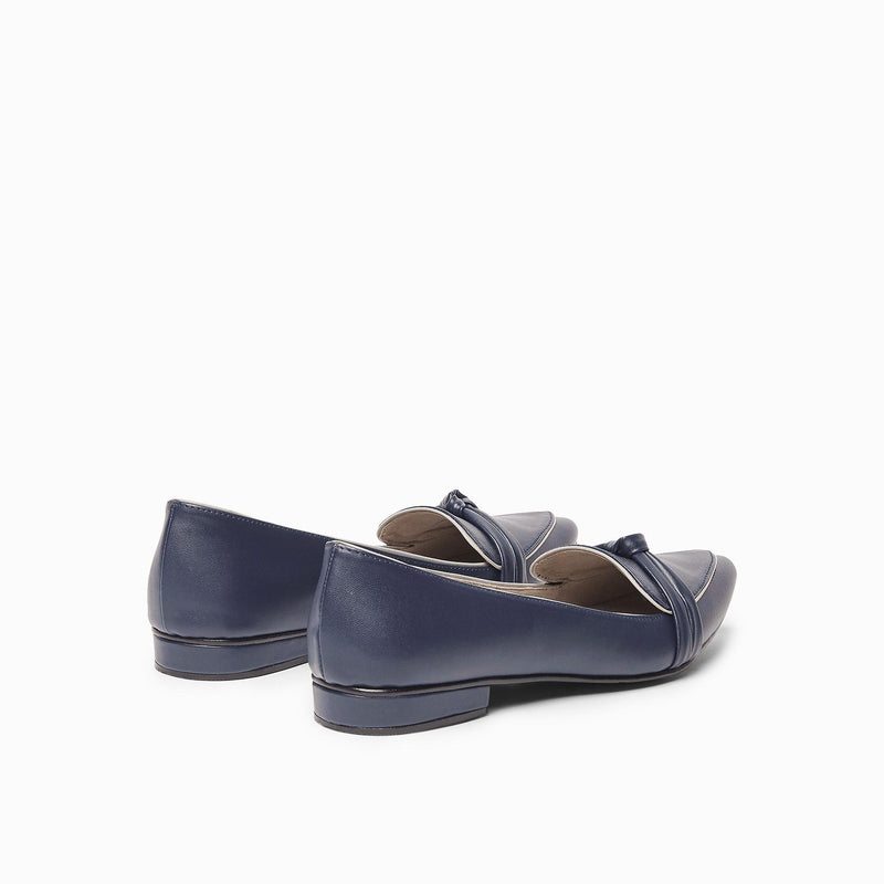 Midnight & Grey Knotted Loafers