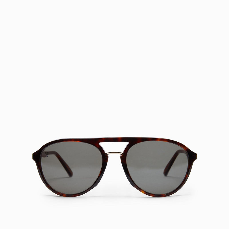 Mocha Round Bridge Sunglasses