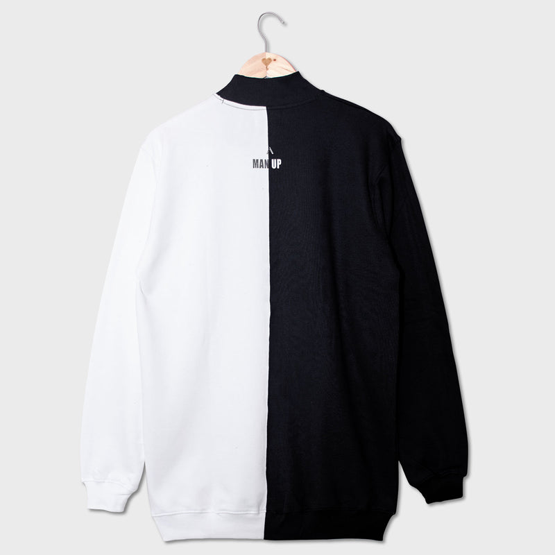 Monochrome Slogan Men's Tracksuit