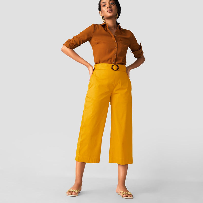 Mustard Belted Culottes